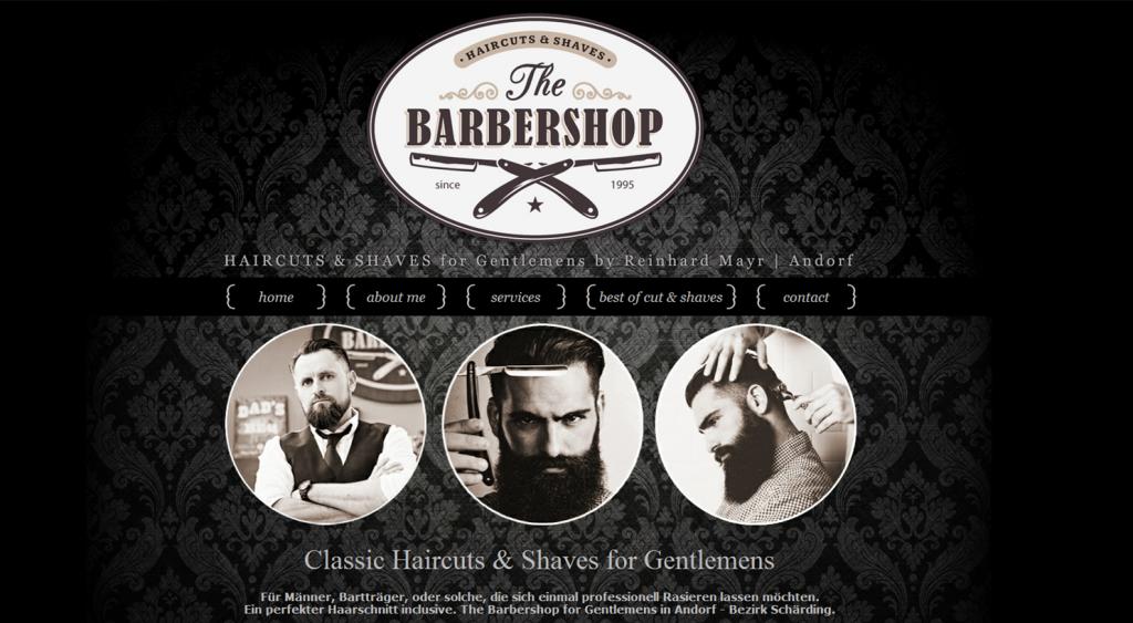 Webseite und Webdesign für The Barbershop, Andorf