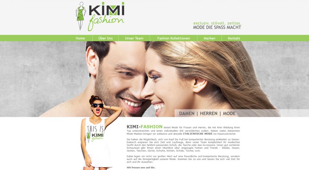 Webdesign und Webseite für Kimi Fashion, Hausruck, Innviertel